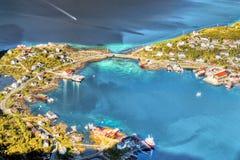 Lofoten famoso, paisagem de Noruega, Nordland Imagem de Stock