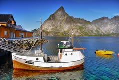 Lofoten, Fishing Boat Royalty Free Stock Photography