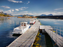 Lofoten, Fishing Boats Stock Photography
