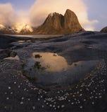 Lofoten fjord, Norge Royaltyfria Foton