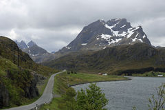 Lofoten highway Royalty Free Stock Image