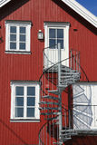 Lofoten house with spiral staircase Royalty Free Stock Photos