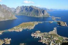 Lofoten Inseln von Reinebringen stockfoto
