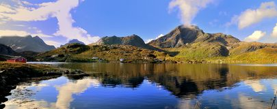 Lofoten Isalnds. A panorama of the norwegian islands in the road E10 Stock Images