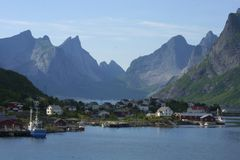 Lofoten island. Smal town called A on Lofoten islands in Norway Royalty Free Stock Photography