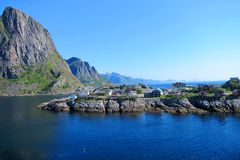 Lofoten Island in Norway Royalty Free Stock Images