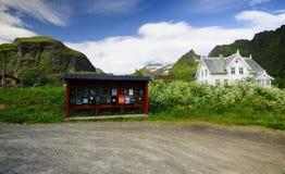 Lofoten island post boxes Stock Photo