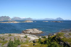 Lofoten Islands. View of a typical landscape of the Lofoten Islands, North Norway Royalty Free Stock Images