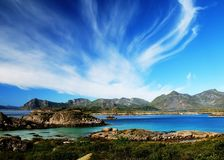Lofoten Islands. The sky of Norway Royalty Free Stock Photo
