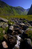 Lofoten islands. River running through valley in lofoten islands Royalty Free Stock Photography