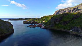 Lofoten islands is an archipelago in the county of Nordland, Norway royalty free stock images