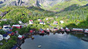Lofoten islands is an archipelago in the county of Nordland, Norway stock photos