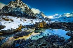 Lofoten islands. Beautiful Norway spring landscape. Stock Photos