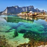 Lofoten Islands, Fjords, Arctic, Norway Royalty Free Stock Photos