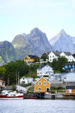 Lofoten Islands houses Royalty Free Stock Photos