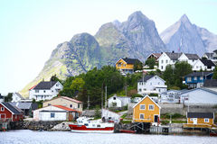 Lofoten Islands houses Stock Image