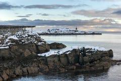 Lofoten islands landscape during winter time Royalty Free Stock Image