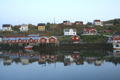 Lofoten islands - Norway. A village in the Lofoten islands - Norway Stock Photography