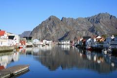 Lofoten islands - Norway. A village in the Lofoten islands - Norway Royalty Free Stock Images