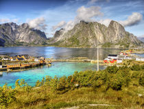 Lofoten Islands Reine Landscape Norway Royalty Free Stock Photos