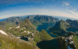Lofoten islands panorama Stock Photo
