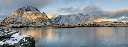 Lofoten islands panorama during sundown, Stock Photos