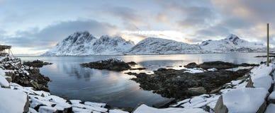 Lofoten islands panorama during winter time, Stock Images