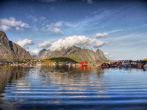 Lofoten Islands, Reine Village Stock Photos