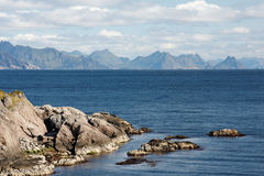 Lofoten Islands. Scenic view of Lofoten islands in Norway on sunny day Stock Image