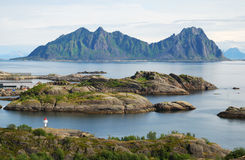 Lofoten islands in summer Stock Image