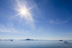 Lofoten Islands in a sunny day Stock Photography