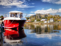 Lofoten, Kabelvag village,  Coastal Landscape Royalty Free Stock Photography