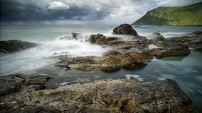 Lofoten-kust Norge Fotografering för Bildbyråer
