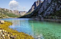 Norway Lofoten the most beautiful lake stock photos