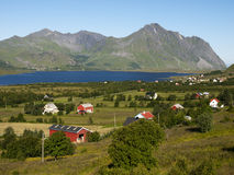 Lofoten Landschaft Stockfotografie