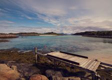 Lofoten latem w Norwegia obraz stock