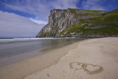 Lofoten love Royalty Free Stock Image