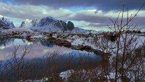 Lofoten Magic. The charming village of Reine in the Lofoten Island& x27;s of Norway& x27;s Arctic Nordlans Royalty Free Stock Photo