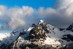 Lofoten mountain ridge Stock Photo