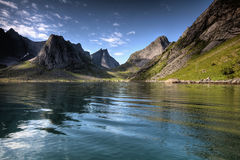 Lofoten Mountains Stock Photo