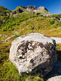 Lofoten mountains landscape Royalty Free Stock Images