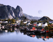 Lofoten Nordland Norway. Lofoten islands - One of the natural wonders of our planet at sunrise. Norway Stock Image