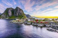 Lofoten, Norvegia di mattina Immagini Stock Libere da Diritti