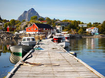 Lofoten, Norway, Fishing Boats, Village Royalty Free Stock Photos