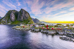 Lofoten, Norway in the morning Royalty Free Stock Images
