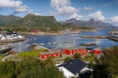 Lofoten, Norway. View of fishing village Kabelvag on the Lofoten Islands in Norway Stock Photography