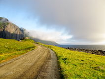 Lofoten road norwegian landscape Royalty Free Stock Photo
