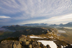 Lofoten panorama Stock Photography