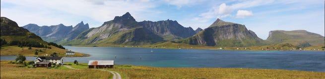 Lofoten panorama Stock Image