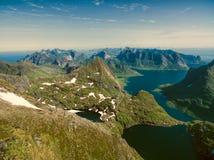 Lofoten peaks Royalty Free Stock Photo